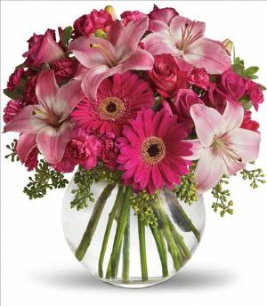 A Little Pink Me Up Bouquet by Davis Floral Comany, your Brownwood, Texas (