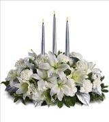 Silver Elegance Centerpiece by Davis Floral Comany, your Brownwood, Texas (TX) Florist