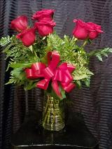 6 Red Roses by Davis Floral Comany, your Brownwood, Texas (TX) Florist
