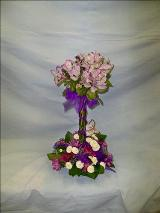 Lavender Butterfly Topiary by Davis Floral Comany, your Brownwood, Texas (TX) Florist