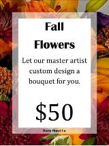 A Custom Fall Flowers Bouquet by Davis Floral Comany, your Brownwood, Texas (TX) Florist
