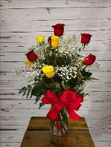 yellow. red. roses. yellow roses. red roses. love. by Davis Floral Comany, your Brownwood, Texas (TX) Florist