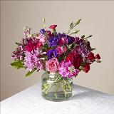 Carnation, Peruvian Lily, Rose, Stock, Purple, Red, Alstroemeria, pink by Davis Floral Comany, your Brownwood, Texas (TX) Florist