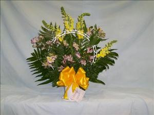 Lavender & Yellow Basket by Davis Floral Comany, your Brownwood, Texas (TX) Florist
