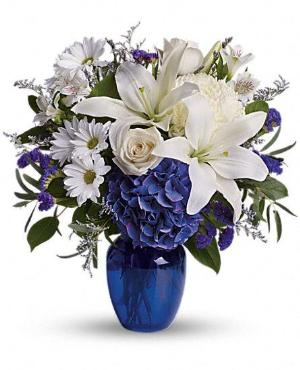 Beautiful in Blue by Davis Floral Comany, your Brownwood, Texas (TX) Florist