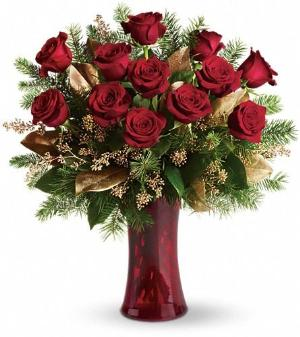 A Christmas Dozen Roses by Davis Floral Comany, your Brownwood, Texas (TX) Florist
