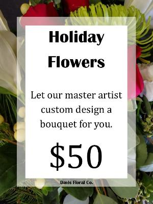 A Custom Holiday Flowers Bouquet by Davis Floral Comany, your Brownwood, Texas (TX) Florist