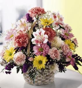 Basket Of Cheer Bouquet by Davis Floral Comany, your Brownwood, Texas (TX) Florist