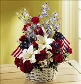 American Glory Basket by Davis Floral Comany, your Brownwood, Texas (TX) Florist