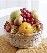 The FTD® Fruit and Chocolate Basket by Davis Floral Comany, your Brownwood, Texas (TX) Florist