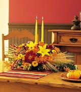 Centerpiece with Tapers by Davis Floral Comany, your Brownwood, Texas (TX) Florist