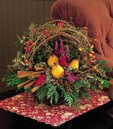 Winter Greens Basket by Davis Floral Comany, your Brownwood, Texas (TX) Florist