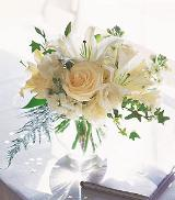 White Roses & Lilies by Davis Floral Comany, your Brownwood, Texas (TX) Florist