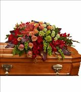 A Fond Farewell Casket Spray by Davis Floral Comany, your Brownwood, Texas (TX) Florist
