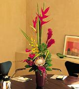 Mixed Tropical Vase by Davis Floral Comany, your Brownwood, Texas (TX) Florist