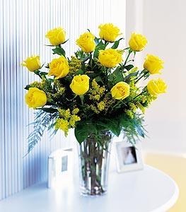 Dozen Yellow Roses by Davis Floral Comany, your Brownwood, Texas (TX) Florist