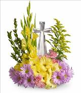 Crystal Cross Bouquet by Davis Floral Comany, your Brownwood, Texas (TX) Florist