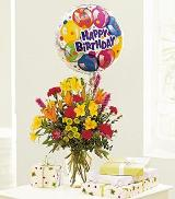 Mixed Bouquet with a Balloon by Davis Floral Comany, your Brownwood, Texas (TX) Florist