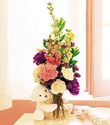 Bear Hug with Flowers by Davis Floral Comany, your Brownwood, Texas (TX) Florist