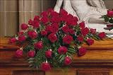 48 Red Rose Casket Spray by Davis Floral Comany, your Brownwood, Texas (TX) Florist