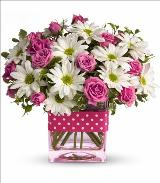 Pink Polka Dots Bouquet by Davis Floral Comany, your Brownwood, Texas (TX) Florist