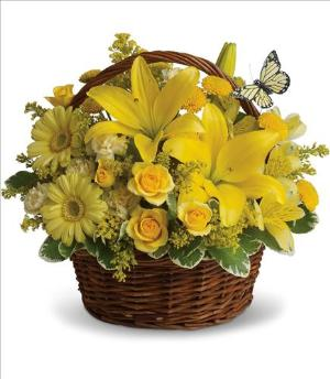 Basket Full of Wishes by Davis Floral Comany, your Brownwood, Texas (TX) Florist
