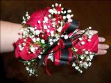 Red & Black Corsage by Davis Floral Comany, your Brownwood, Texas (TX) Florist