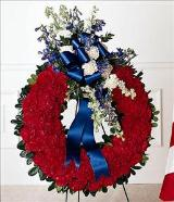 All American Tribute™ Wreath by Davis Floral Comany, your Brownwood, Texas (TX) Florist