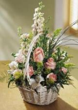 Blushing Beauty™ Basket by Davis Floral Comany, your Brownwood, Texas (TX) Florist