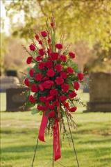 All-Red Standing Spray by Davis Floral Comany, your Brownwood, Texas (TX) Florist